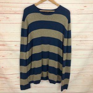 Banana Republic Tan & Blue Striped Sweater